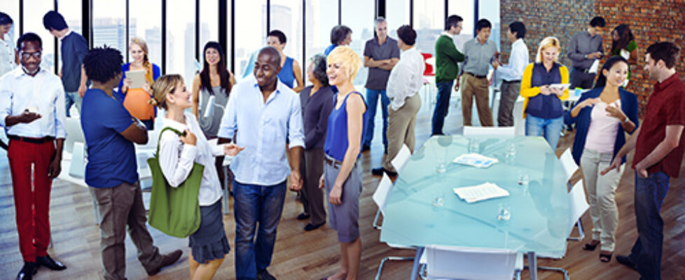 Diverse Group of Business People Socializing